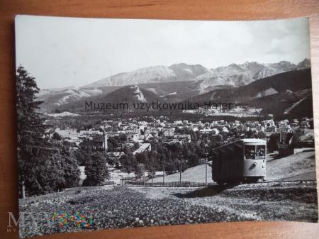 ZAKOPANE Kolejka na Gubałówkę na tle Zakopanego