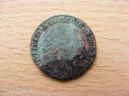 William and Mary halfpenny