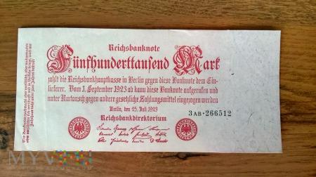 500,000 Mark 1923r.