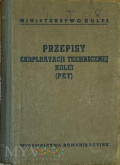 1956 - Przepisy eksploatacji tech. kolei (PET)