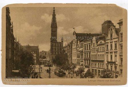 Gdańsk Danzig - Długi Targ, Ratusz - lata 20-te