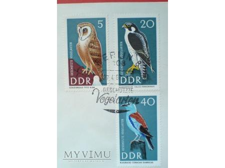 1967 Chronione gatunki ptaków znaczki DDR