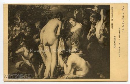 Jordaens - alegoria płodności - Bachanalia