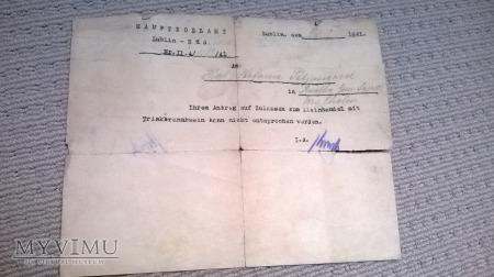 Dokument niemiecki