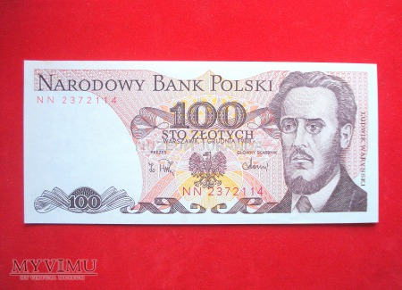 100 złotych 1988 rok