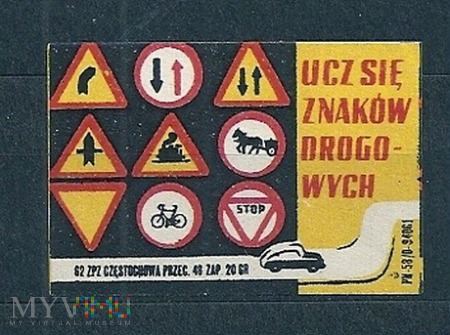 Duże zdjęcie Ucz się znaków drogowych.2.1962Częstochowa