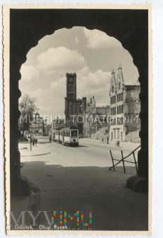 Gdańsk Danzig - Długi Targ, Ratusz - 1946/47