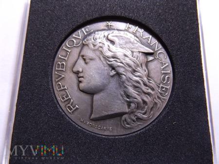 Duży Francuski Srebrny medal