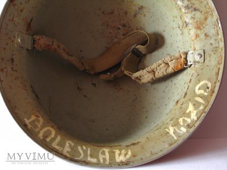 Helm angielski MkII nalezacy do zolnierza 2 Korpus