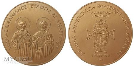 Archidiecezja Thyateiry i W. Brytanii medal 1975