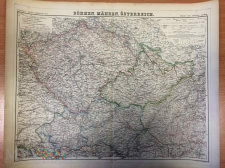 Mapa Czech, Austrii- 1876
