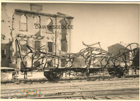 Siedlce - stacja kolejowa październik 1939.