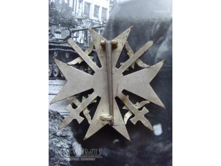 Spanienkreuz mit Schwertern in Silber