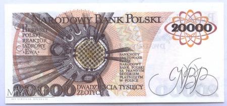 20 000 złotych - 1989.