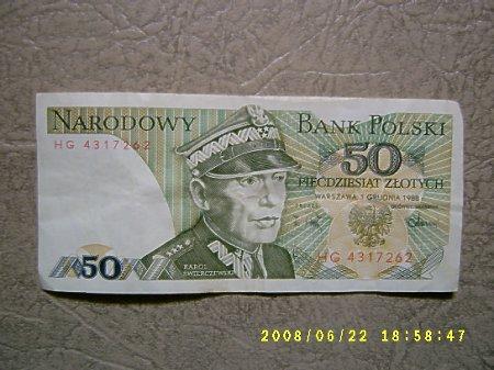 50 złotych(Świerczewski).