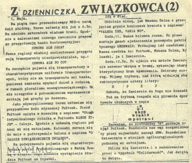 Pomruk Pismo satyryczne , Łódź 1 maja 1981 nr 2