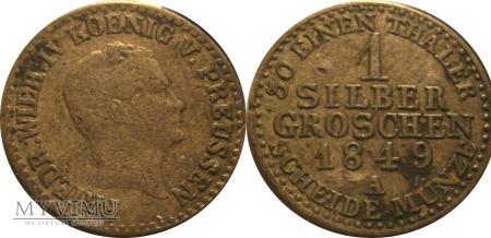 1 silber groschen 1849