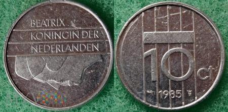 Holandia, 1985, 10 centów