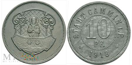 10 PF. STADT CAMMIN i.P. 1918.