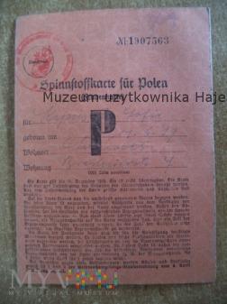 Spinnftoffkarte für Polen Kartka żywnosciowa