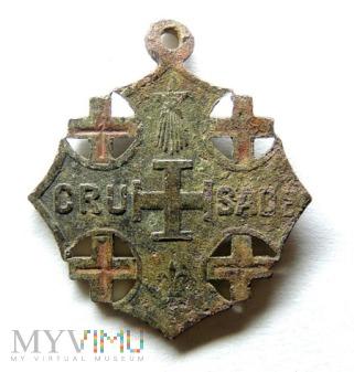 Medalik Krzyż Jerozolimski 2