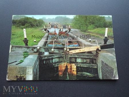 Barki statki na kanale Anglia