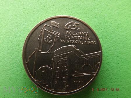 Polska 2 złote, 2009 65 Rocznica Powstania W...