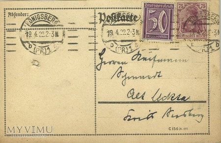 Konigsberg 1922 r.
