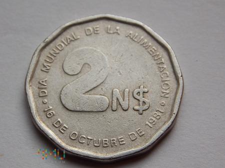 2 NUEVOS PESOS 1981-URUGWAJ