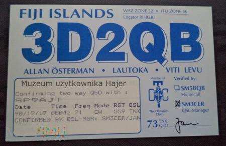 Fidżi Karta QSL