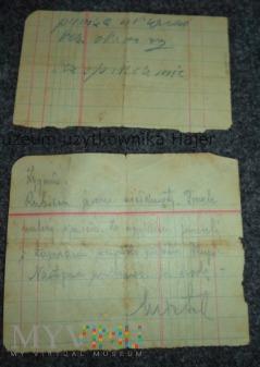 List Przemyśl - Grybów Strefy okupacyjne
