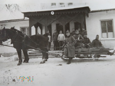 Wehrmacht na saniach