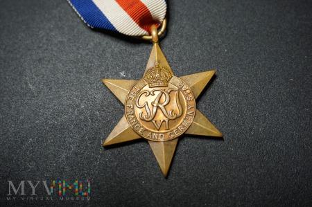 Medal Brytyjski - Gwiazda za Francję i Niemcy