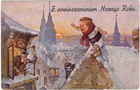 Duże zdjęcie Z powinszowaniem Nowego Roku - 1938