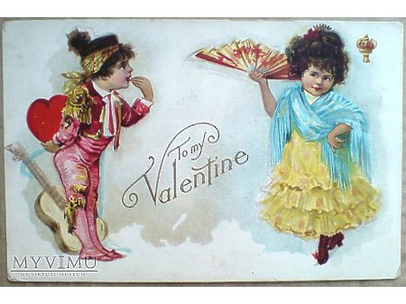 Mojej kochanej Walentynce WALENTYNKI 1910