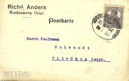 Rudczanny - Alt Ukta - 1920 r.