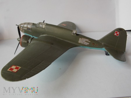 PZL P-37 A- ŁOŚ - model 1/72