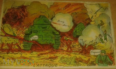 bitwa francusko-niemiecka humorystyczna wizja