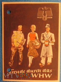 Propagandowe plakietki Pomocy Zimowej