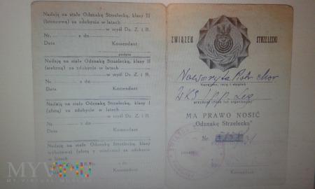legitymacja Związek Strzelecki Piotr Noworyta