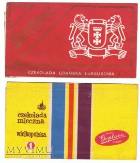 Goplana - dwie czekolady - Wielkopolska i Gdańska.