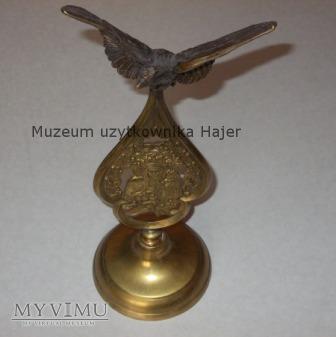Stara statuetka ryngraf Orzeł Matka Boska mosiądz