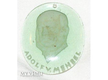 Szklany medalion WHW Adolf von Menzel