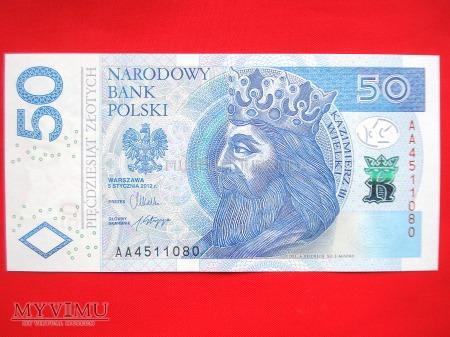 50 złotych 2012 rok