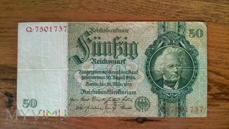 50 Reichsmark 1933r.