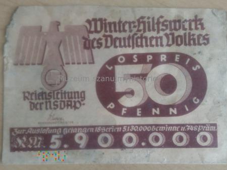WHW koperta z loterii 1938