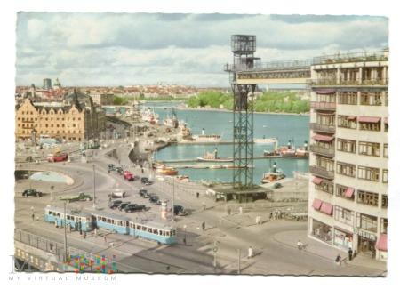 Stockholm Slussen med Katarinahissen 1963