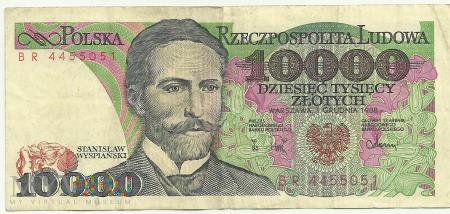 Banknot 10 000 złotych 1 grudnia 1988