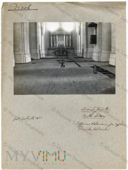 Pińsk - kościół i klasztor jezuitów ołtarz 1921