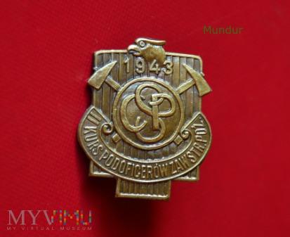 Odznaka pamiątkowa - Kurs Podoficerów Zaw.Poż.